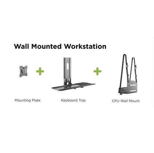 wall mounted monitor stand with keyboard tray