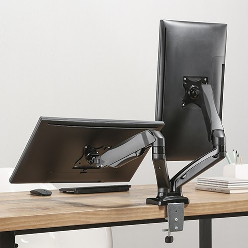 dual monitor table stand